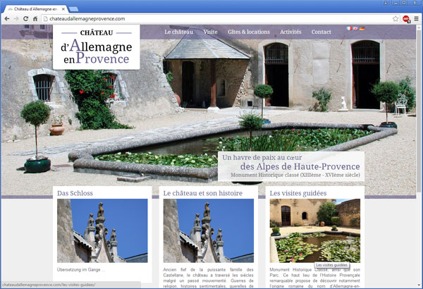 Chateau d'Allemagne en Provence