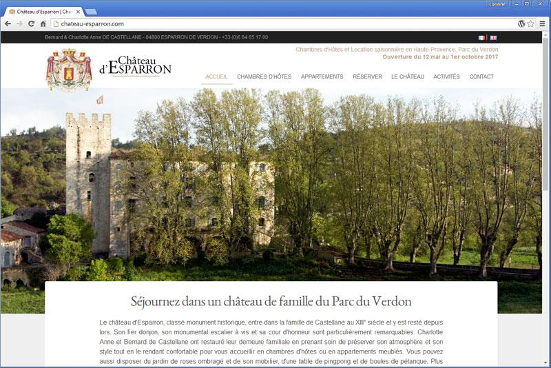 Château d'Esparron, Chambres d'hôtes en Provence